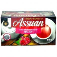 Assuan Maliny – черный чай с малиной, 40 шт.