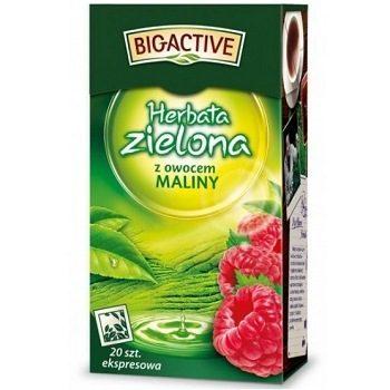Big-Active Maliny – зеленый чай с малиной, 100 гр.