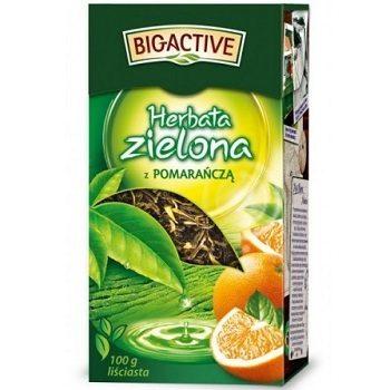 Big-Active z Pomarancza – зеленый чай с апельсином, 100 гр.
