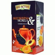 Big-Active Brzoskwinia & Morela – черный чай с кусочками фруктов, 80 гр.