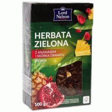 Lord Nelson Herbata Zielona z Ananasem – зеленый рассыпной чай с ананасом, 100 гр.