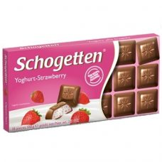 Schogetten Yoghurt-Strawberry – шоколад с клубнично-йогуртовой начинкой, 100 гр.