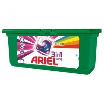 Ariel Pods Color – капсулы для стирки цветного белья 3в1, 28 штук.