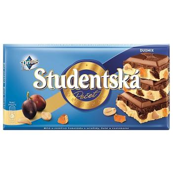 Studentska – бело-черный шоколад с изюмом, 180 гр.