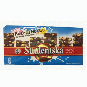 Studentska Rozbal Hudbu – молочный шоколад с арахисом и желе, 180 гр.