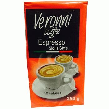 Veronni Espresso Sicilia Style - молотый кофе (арабика), 250 гр.
