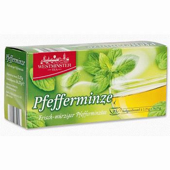 Westminster Pfefferminze – травяной чай с мятой (в пакетах), 25 шт.
