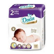 Dada Premium 2 Mini – детские подгузники (3-6 кг.), 64 шт.