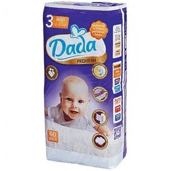 Dada Premium 3 Midi – детские подгузники (4-9 кг.), 60 шт.