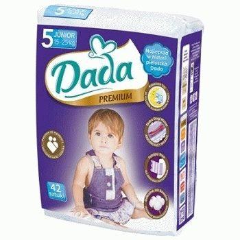 Dada Premium 5 Junior – детские подгузники (15-25 кг.), 42 шт.