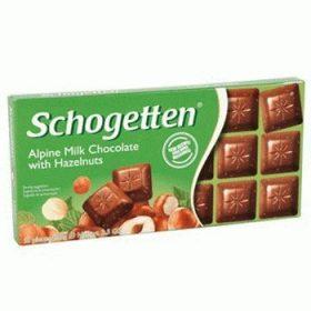 Schogetten Hazelnuts – молочный шоколад с орехом фундук, 100 гр.
