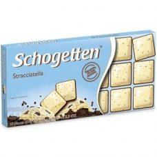 Schogetten Stracciatella – белый и темный шоколад, 100 гр.