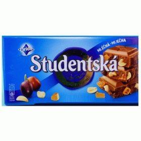 Studentska Pecet Mlecna-Mlecna – молочный шоколад с арахисом и желе, 180 гр.
