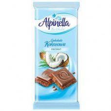 Alpinella Czekolada Kokosowa – молочный шоколад с кокосовой начинкой, 90 гр.