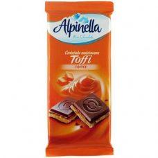 Alpinella Czekolada Toffi – молочный шоколад с карамелью, 90 гр.