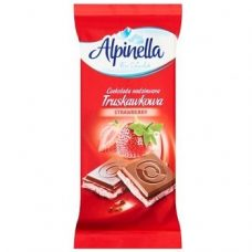 Alpinella Czekolada Truskawkowa – молочный шоколад с клубникой, 90 гр.