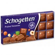 Schogetten Praline Noisettes – молочный шоколад с кремовой начинкой, 100 гр.