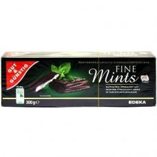Gut & Gunstig Fine Mints – черный шоколад с мятной начинкой, 300 гр.