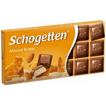 Молочный шоколад с миндальной крошкой Schogetten Almond Brittle