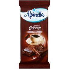 Alpinella Czekolada Gorzka Dark – черный горький шоколад, 90 гр.