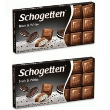 Schogetten Black and White – молочный шоколад с «OREO», 100х2 гр. (2 шт.)