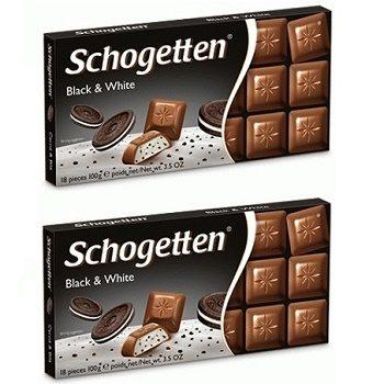 Schogetten Black and White - молочный шоколад с «OREO», 100х2 гр. (2 шт.)