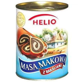 Helio Masa Makowa – маковая масса с орехами и изюмом, 850 гр.