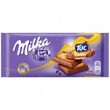 Шоколад с крекером Milka TUC