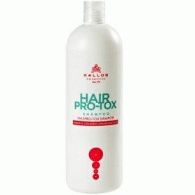 Kallos Hair Pro-Tox – шампунь для сухих и ломких волос, 1000 мл.