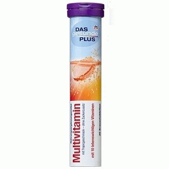 DAS gesunde PLUS Multivitamin – витаминные шипучие таблетки (мультивитамин), 20 шт.
