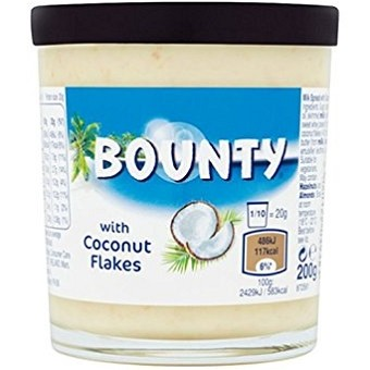 Bounty with Coconut Flakes – шоколадная паста с кокосовыми хлопьями, 200 гр.