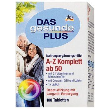 DAS Gesunde PLUS Komplett ab 50 – комплекс витаминов и минералов (возраст 50+), 100 шт.