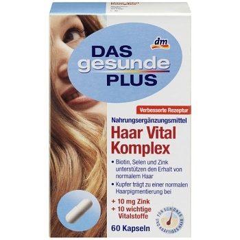 DAS Gesunde PLUS Haar – витаминный комплекс для волос и ногтей, 60 шт.