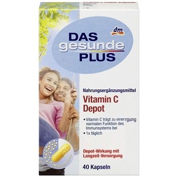 DAS Gesunde PLUS Vitamin C – витамин C для иммунитета, 40 шт.