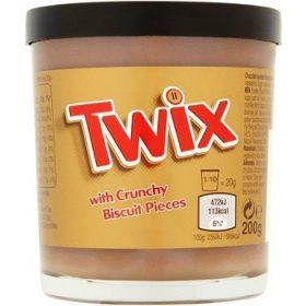 Twix with Crunchy Biscuit – шоколадная паста с печеньем и карамелью, 200 гр.