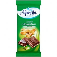 Alpinella Czekolada Arachidowa – молочный шоколад с арахисом и орехами, 90 гр.