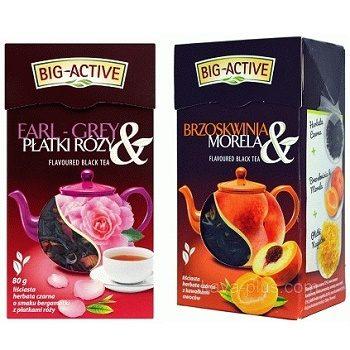 Big-Active Platki Rozy + Brzoskwinia- черный чай, 80х2 гр. (2 шт.)