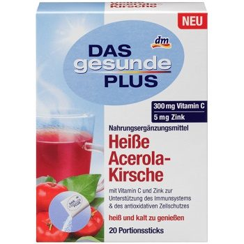 DAS Gesunde PLUS Heiße Acerola-Kirsche – чай с витаминами и вишней (в стиках), 20 шт.