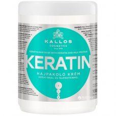 Kallos Keratin Mask – маска для поврежденных волос, 1000 мл.