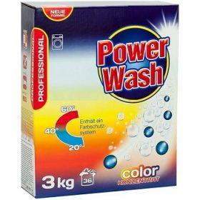 Power Wash Professional Color – универсальный стиральный порошок, 3 кг.
