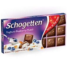 Schogetten Yoghurt-Blueberry-Muesli – молочный шоколад с йогуртом и мюслями, 100 гр.