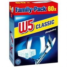 W5 Geschirr-Reiniger Classic – таблетки для посудомоечныхмашин, 60 шт.