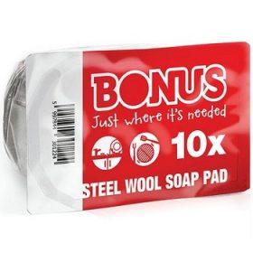 Bonus Steel Wool – губки металлические для чистки поверхностей, 10 шт.