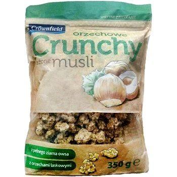 Crownfield Orzechowe Crunchy – мюсли овсяные с лесными орехами, 350 гр.