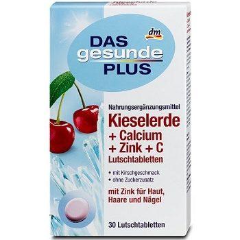 Сосательные витамины DAS Gesunde PLUS Kieselerde Lutschtabletten
