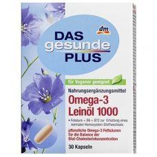 DAS Gesunde PLUS OMEGA-3 Leinol 1000 – витаминный комплекс для обмена веществ, 30 шт.