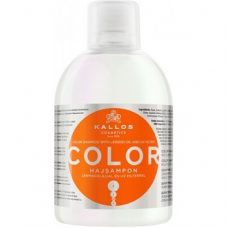 Kallos Color Shampoo – шампунь дляокрашенныхволос с льняным маслом, 1000 мл.