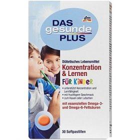 DAS gesunde PLUS Konzentration & Lernen – детские витамины для внимания, 30 шт.