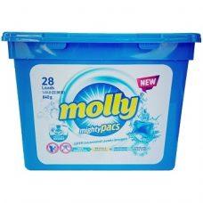 Molly Mighty Pacs – универсальные капсулы для стирки, 28 шт.