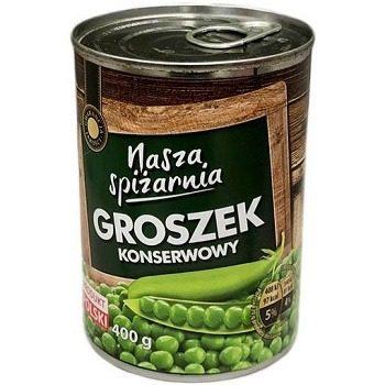 Nasza Spizarnia Groszek Konserwowy – консервированный зеленый горошек, 400 гр.